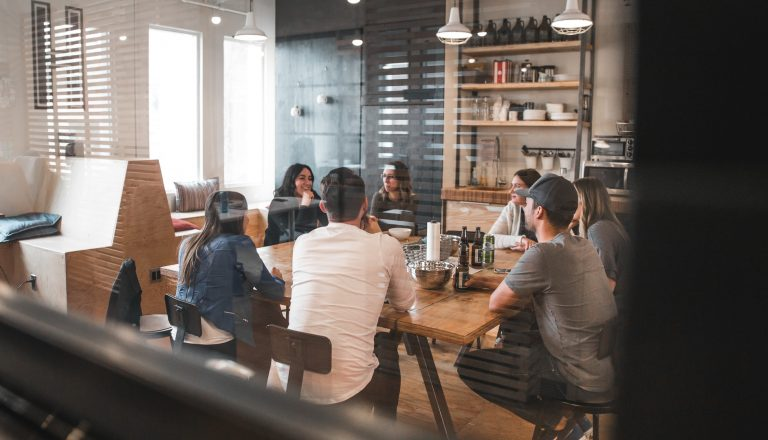 Startup culture reflected in a company meeting